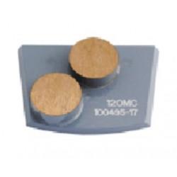 Quick Change Double Button for Medium Concrete (Grey)