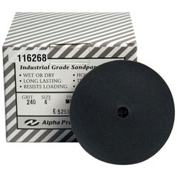 Alpha® QRS Silicon Carbide Sanding Discs