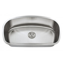 DFS-104 Neptune - Full D-Back Single Bowl Sink