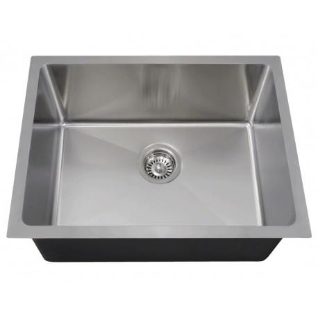 14 Gauge Undermount 3/4 Radius Single Bowl Sink