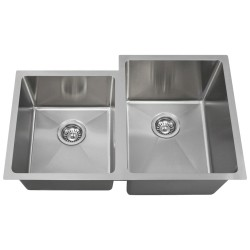 14 Gauge Undermount Double Bowl 3/4 Radius Sink