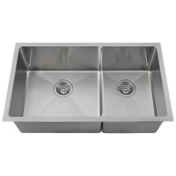 "14 Gauge Double Bowl 3/4"" Stainless Steel Sink"