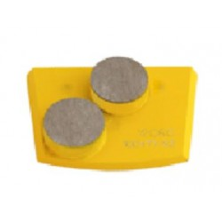 Quick Change Double Button For Soft Concrete (Yellow)