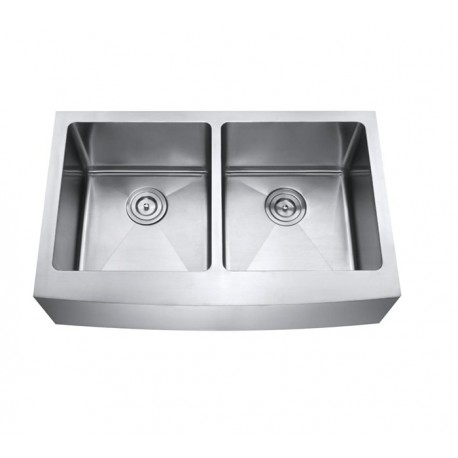 DFS202 Double Equal Bowl Apron Kitchen Sink