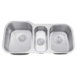 DFS-301 Triangulum Triple Bowl Sink