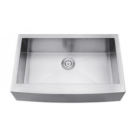 DFS105-30ZR Single Bowl Apron Kitchen Sink Zero Radius