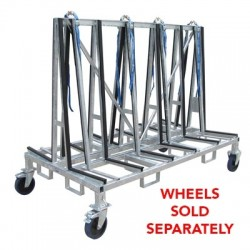 "Weha Small Double Sided Transport Cart 78"" x 43"" x 58"""