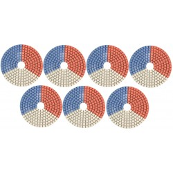 Neoflex Tri-Color 7 Step Polishing Pads for Engineered Stone