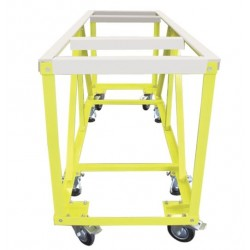 "Weha Yellow Work Table w/ White Locking Rubber-  28"" x 84"" x 40"