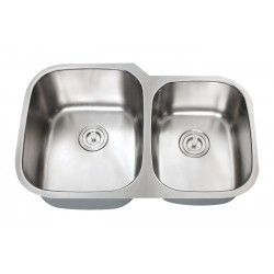 DFS- 201 Orion - 60/40 Double Bowl Stainless Steel Sink