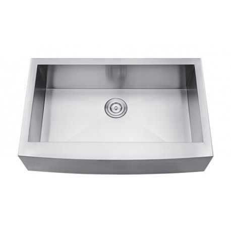 DFS105-30ZR Single Bowl Apron Kitchen Sink Zero Radius