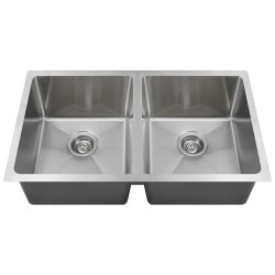 "3120D  Equal Bowl Undermount 3/4"" Radius Sink"