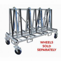 """Weha """"Shorty"""" Double Sided Transport Cart (78"""" X 42"""" X 32"""")"""